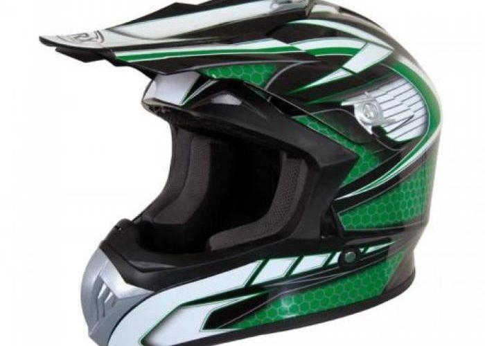 Moyen Mat Noir 55-56cm Qtech Q101 Casque de Moto pour Enfant Motocross Cross Off-Road BMX Cycle Noir Mat ATV Quad