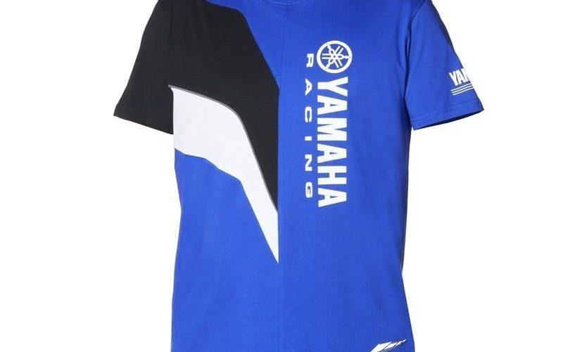 VR46 Officiel Valentino Rossi Femme Yamaha de Course T-Shirt Bleu//Noir