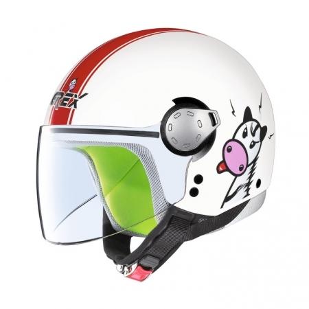 49-50cm X19- Vert S Leopard LEO-X19 Enfant Casque de Moto Casques Motocross Bicyclette ATV MX VTT Junior Sports ECE 22-05 Approbation